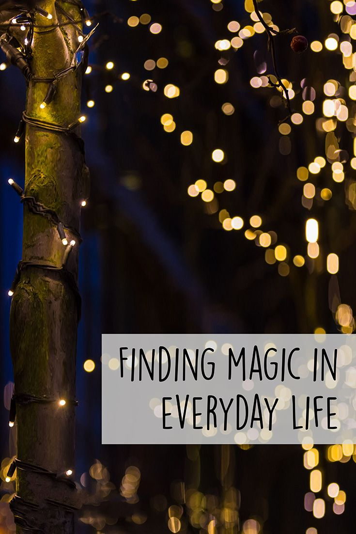 As children, we were taught that magic wasn't real and logic was everything. But as an adult, I am looking for magic all the time.