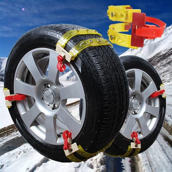 Caucho Automóvil Nieve Lluvia Carretera Neumático Cadenas Antideslizantes Para Coche Rueda De Camión Neumático