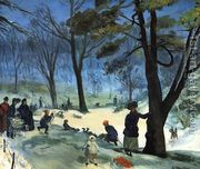 Central Park in Winter  by William Glackens