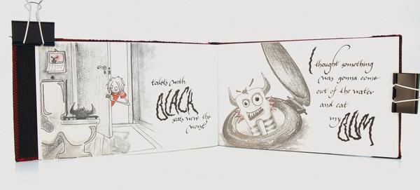 Calligraphy | Monster by Anne Hilde Taraldstad, via Behance