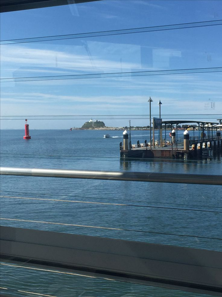 Looking towards Nobbys light house from the restaurant Scratchlys, what a beautiful winters day