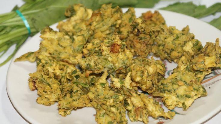 palak pakoda/spinach fry in telugu by Amma Kitchen- Latest Indian Recipes