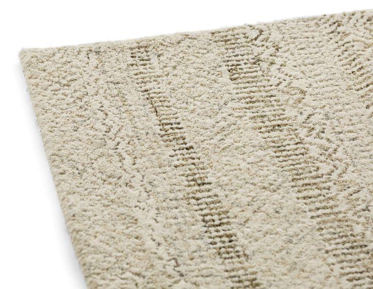 MERIDIAN - Hand made wool rug 6' x 9' - Beige