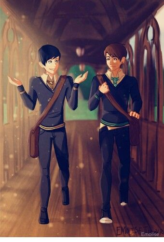 Dan and Phil fanart though, I'm not sure if Dan would be slytherin, actually, yeah,maybe, probably not tho