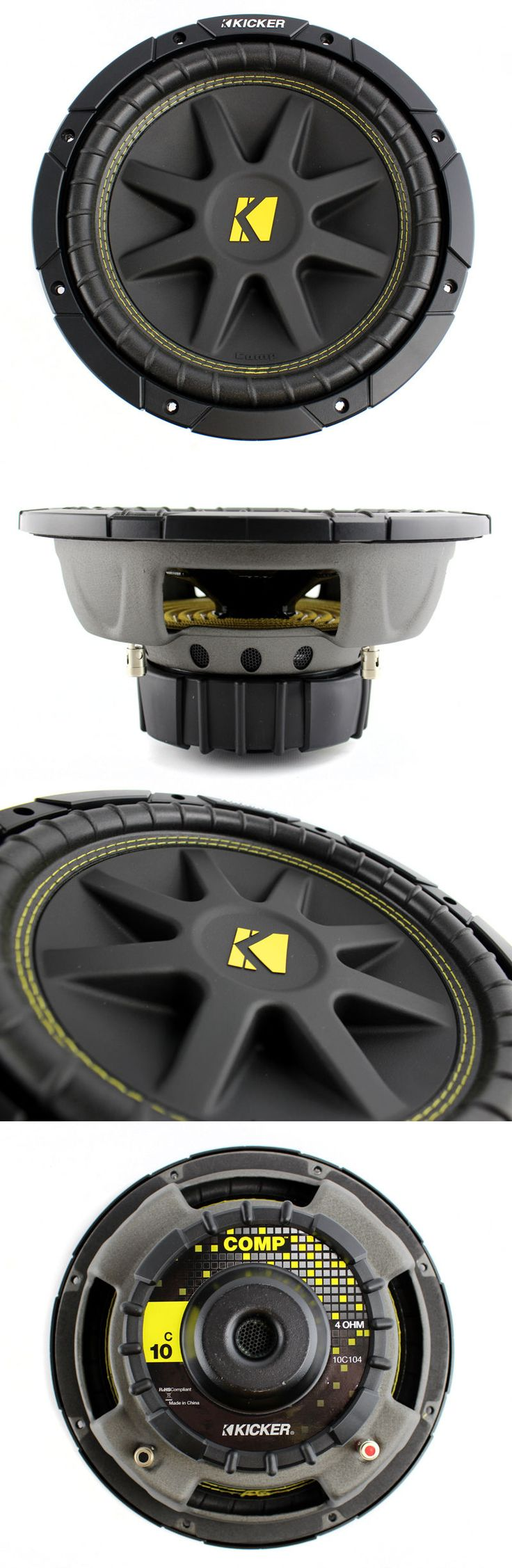 Car Subwoofers: Kicker C104 10 300W Comp 4-Ohm Car Audio Subwoofer Sub Woofer C10 | 10C104 BUY IT NOW ONLY: $63.95