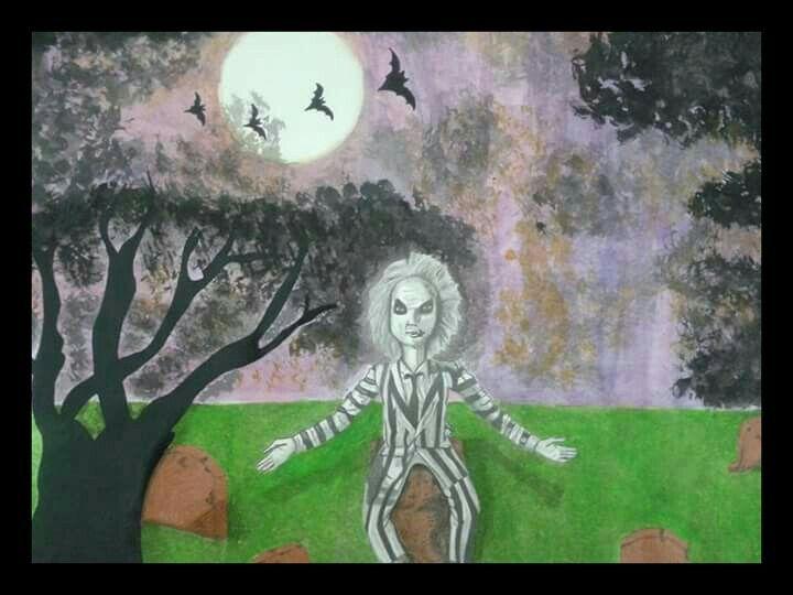 Halloween. Lapis de cor + Aquarela + Lapis 6b