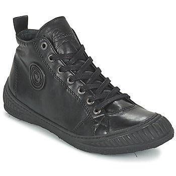 Confort y estilo son las ventajas de esta zapatilla alta de la marca Pataugas. El material exterior en , de color negro le da un aire casual sport. Combina plantilla en cuero y suela en caucho.   Un modelo que impone su estilo. - Color : Negro - Zapatos Hombre 129,00 €
