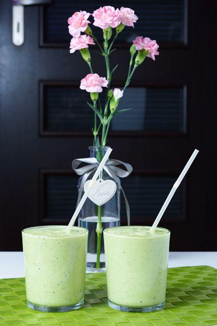 Zielony koktajl białkowy #koktajl #białkowy #awokado #ananas #kiwi #shake #protein #avocado #pineapple #cocktail