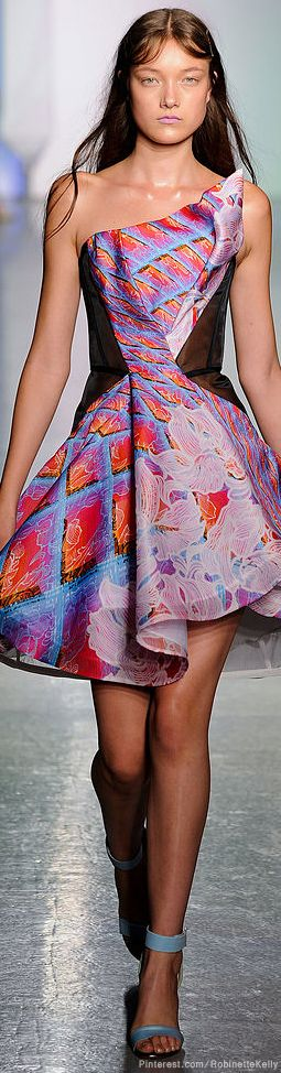 This looks like a modern day Queen of Hearts! Love it! Peter Pilotto | S/S 2014