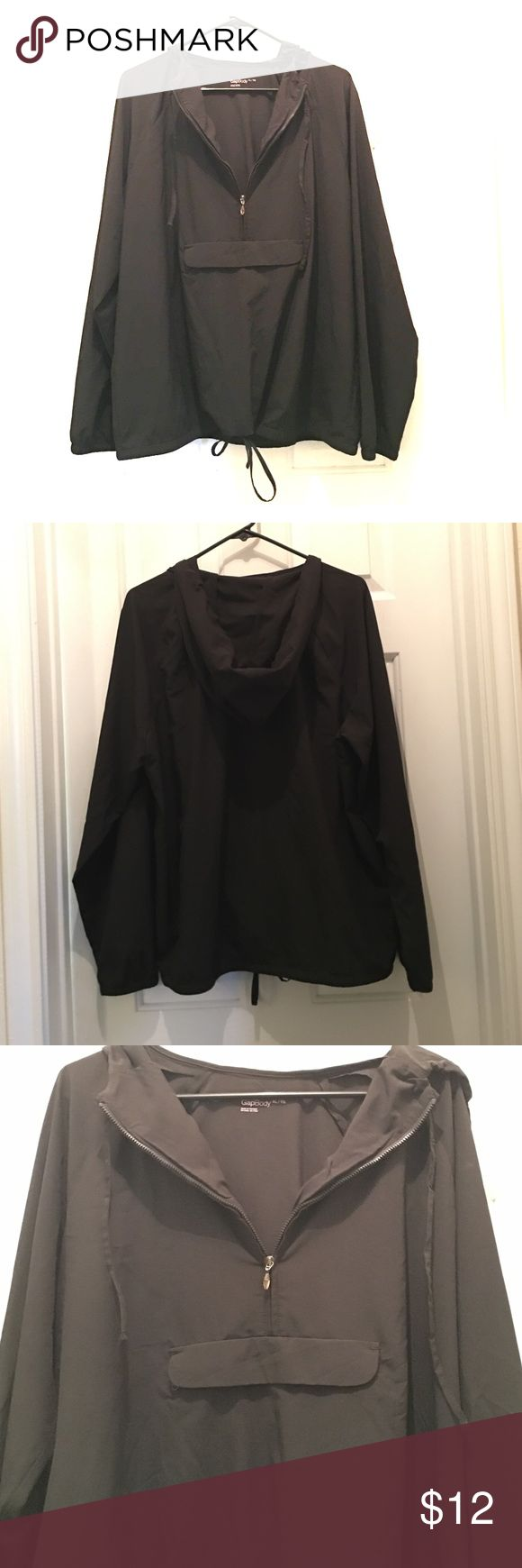 🔥ONE DAY SALE - NWOT Gap Black Windbreaker NEW never been worn, lightweight windbreaker - pocket in front zips and Velcro's - this won't last long, buy me!! GAP Jackets & Coats