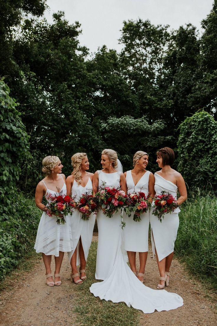 elegant rustic chic wedding bridesmaid dresses country