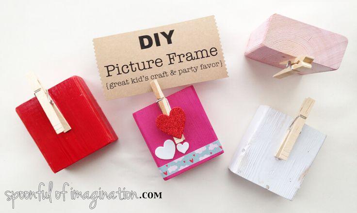 diy adult party favors block picture frames