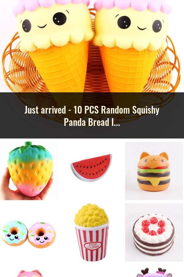 Novelty & Gag Toys Reasonable 10pcs Random Squishy Panda Bread Ice Cream Slow Rising Cute Phone Straps Cake Buns Pendant Toy Kid Squeeze Scented Charms