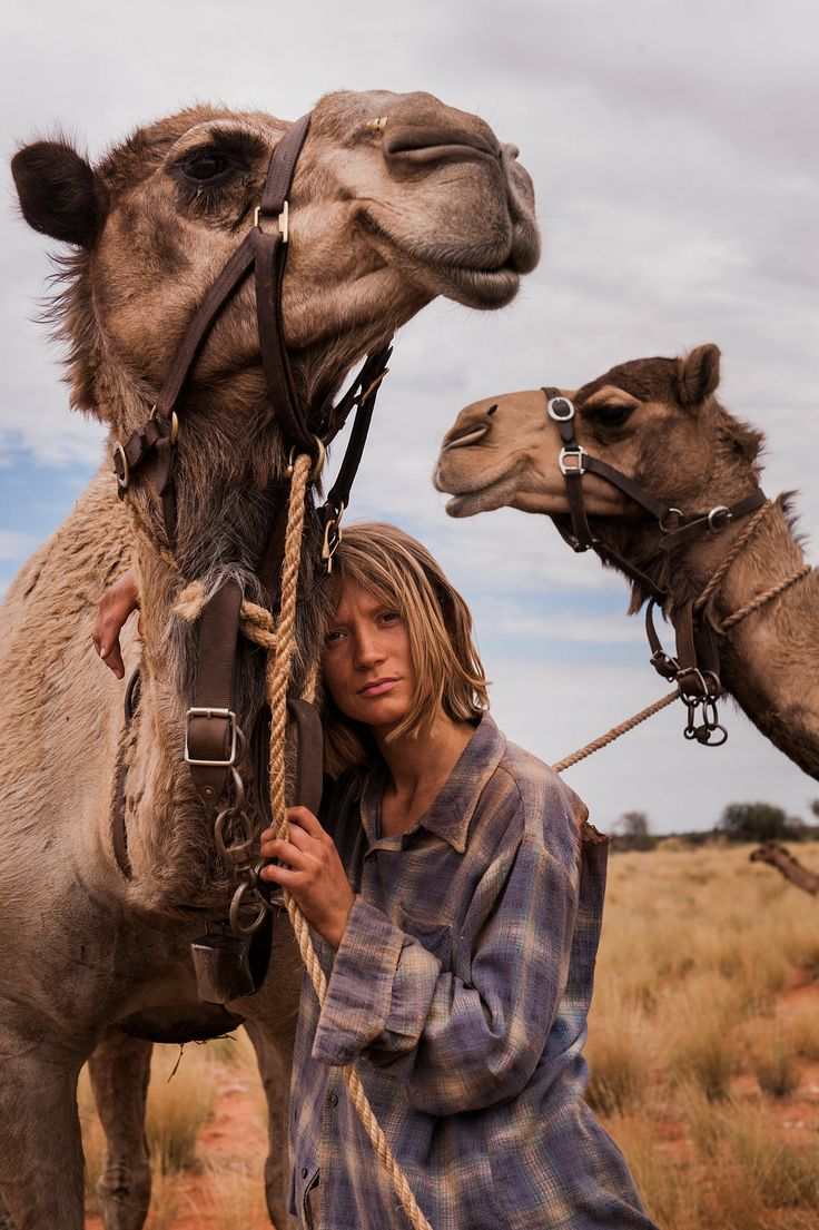 Source: Transmission Films Mia Wasikowska plays the Robyn Davidson, a 27-year-old Alice Springs-based woman who takes off on an epic journey across the Australian desert. Tracks movie