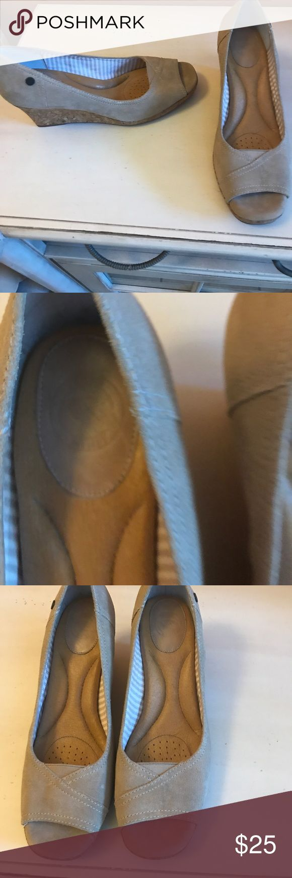 NWOT nude Wedges by nurture, size 10 NWOT nature suede nude Wedges, perfect for every outfit & super comfortable. Size 10, purchased at Dillard's. nurture Shoes Wedges