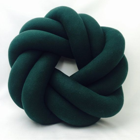 Circle Round Bottle Green Knot Cushion Pillow