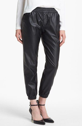 Piper Faux Leather Track Pants available at #Nordstrom