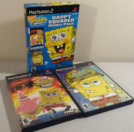 Original Playstation 2 SpongeBob Happy Squared Double Pack