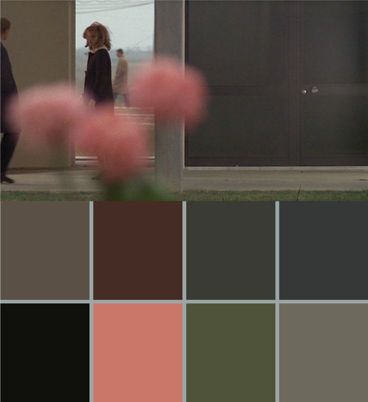 """Red Desert"" by Michelangelo Antonioni, 1964 (with colour palette)"