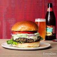 Eat Your Greens Burger with Avocado Ranch Dressing, Rachael Ray