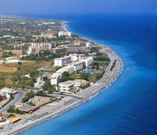 Beaches in Rhodes Greece