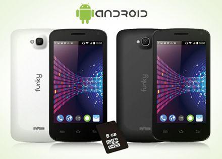 MyPhone FUNKY Androidos okostelefon, zenekedvelőknek