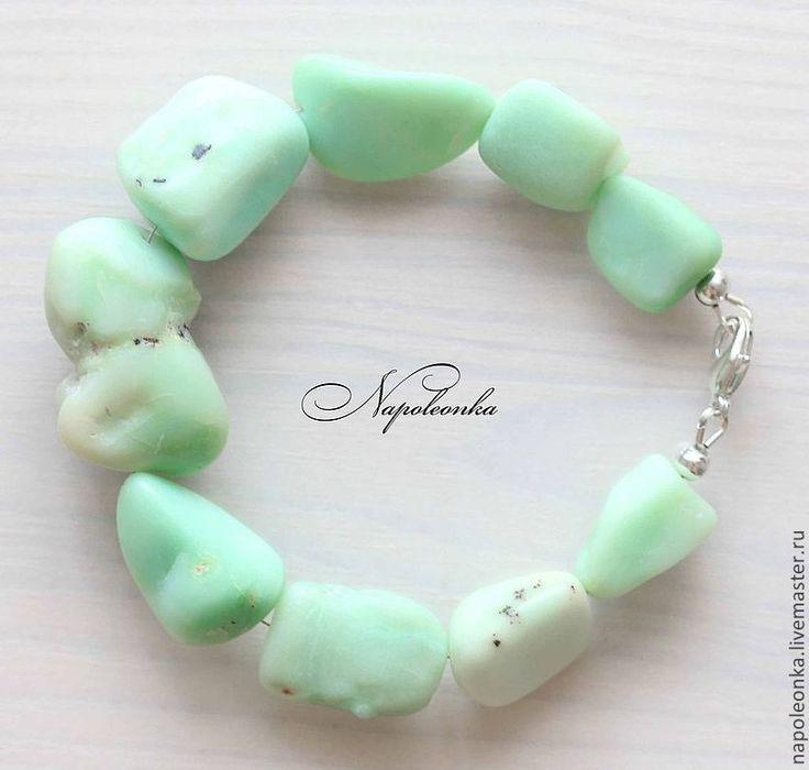 """Купить Браслет """"Дикий"""". Хризопал. Авторский браслет. - хризопал, браслет с камнями, браслет из камней http://napoleonka.ru/"""