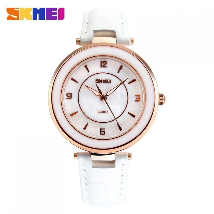 Jam Tangan Wanita SKMEI Fashion Casual Leather Strap Original 1059CL Putih