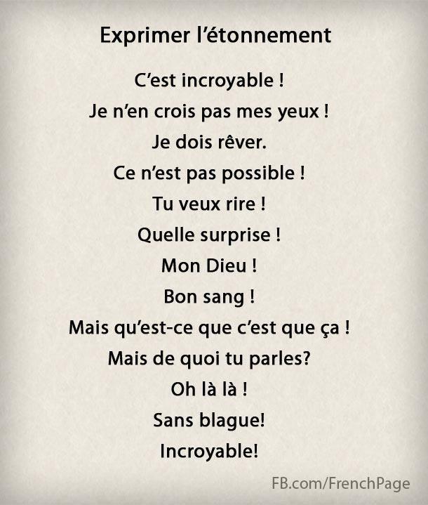 FrenchISchool FLE Français Langue Etrangère Paris   13 manières de s'étonner en français