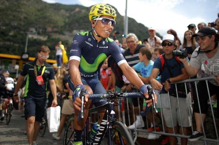 Nairo Quintana perdió tiempo frente al líder Chris Froome