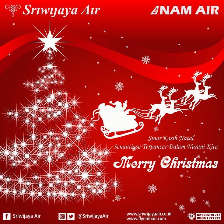 Seluruh Jajaran Komisaris, Direksi dan Karyawan Sriwijaya Air Group mengucapkan Selamat Hari Raya Natal 2016. Semoga Kedamaian dan Keberkahan selalu menyertai kita semua.