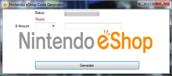The Nintendo eShop Code Generator is ready for download. Use Nintendo eShop Code Generator working tool.