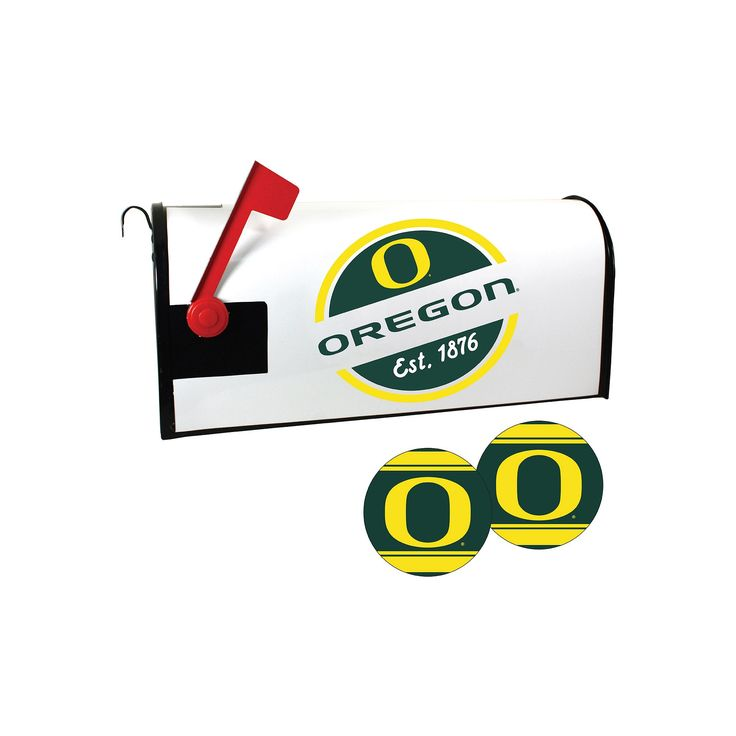 Oregon Ducks Magnetic Mailbox Cover & Decal Set, Multicolor