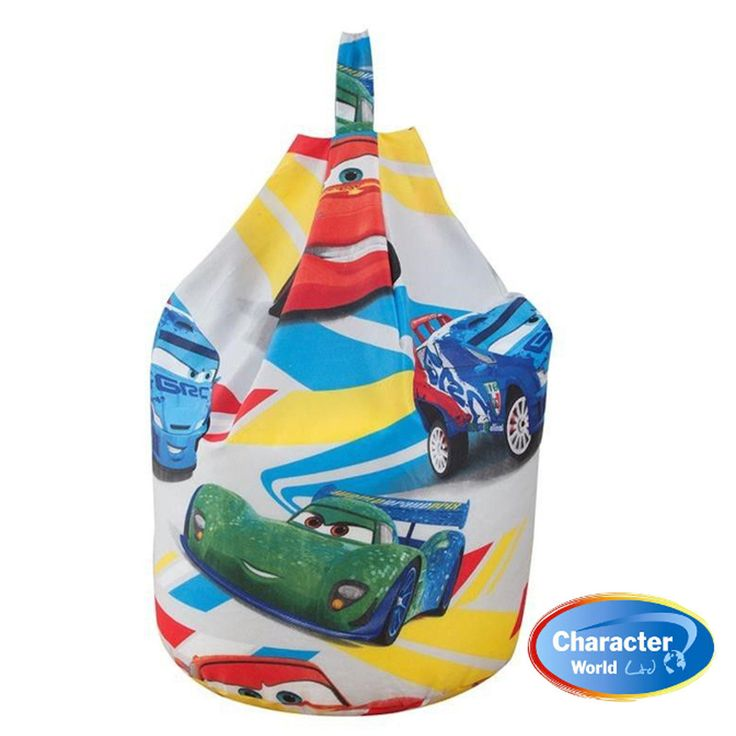 This childrens bean bag is an officialy licenced Disney Pixar Cars bean bag.   This Disney cars beanbag is an officially licensed childrens character beanbag.   Your kids will love the soft and cushioned comfort of these disney cars bean bags, while reading, watching tv or playing games.   Lightning McQueen sits at the top of the pile with French Raoul CaRoule, Carla Veloso and more dotted all over.  This Disney Cars Speed Bean Bag has Fast & Free Shipping Within The UK!!