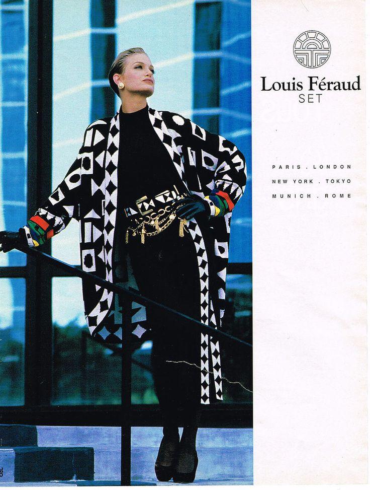 PUBLICITE ADVERTISING  1992  LOUIS FERAUD SET