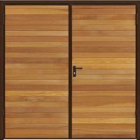 Horizontal Cedar Garador Timber Side hinged Side Hinged Garage Door at Garage Doors Online