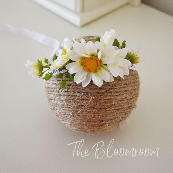 Tieback Flower Crown / Headband / Newborn Photo Prop / Baby Tieback Flower Crown / Baby Flower Crown / Toddler Flower Crown / Photo prop