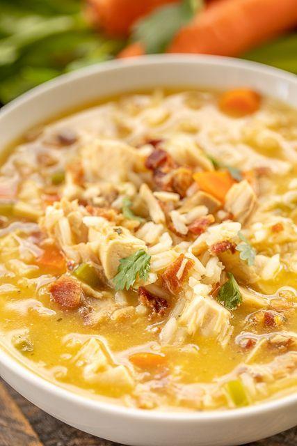 Crack Chicken & Rice Soup (Plain Chicken)