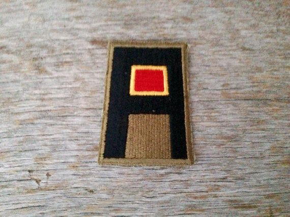 RARE Vintage World War II First Army patch U.S. by tincanvintage