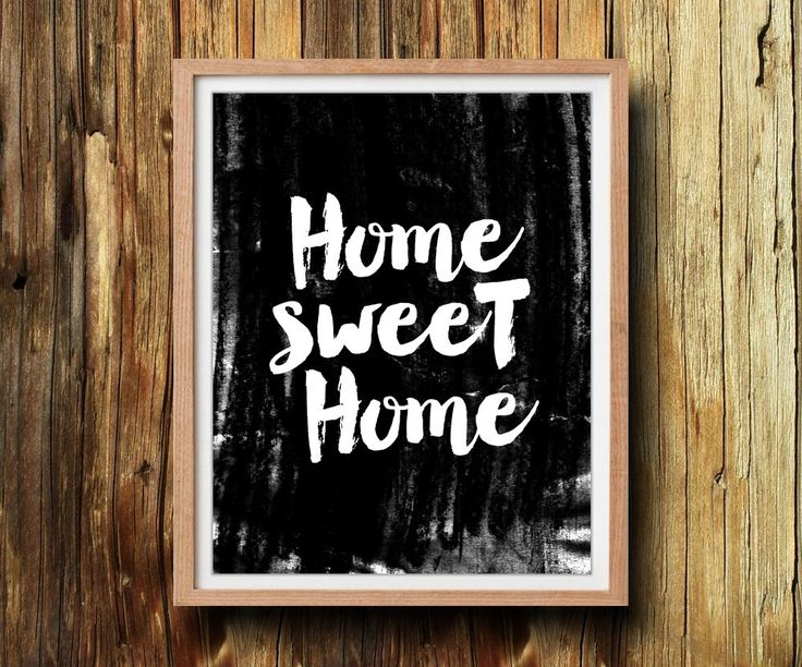 Home sweet home printable instant download printable