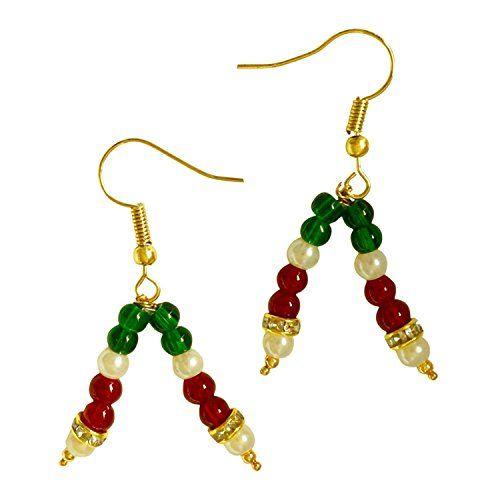 Red & Green Pearls Dazzling Bollywood Style Gold Plated E... https://www.amazon.com/dp/B06XPVCR11/ref=cm_sw_r_pi_dp_x_0WZ6ybC23TDDF