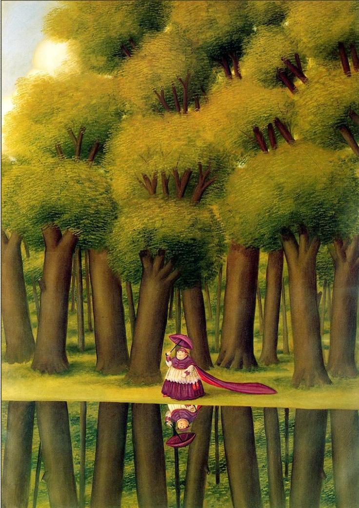 Fernando Botero-La mujer y el lago