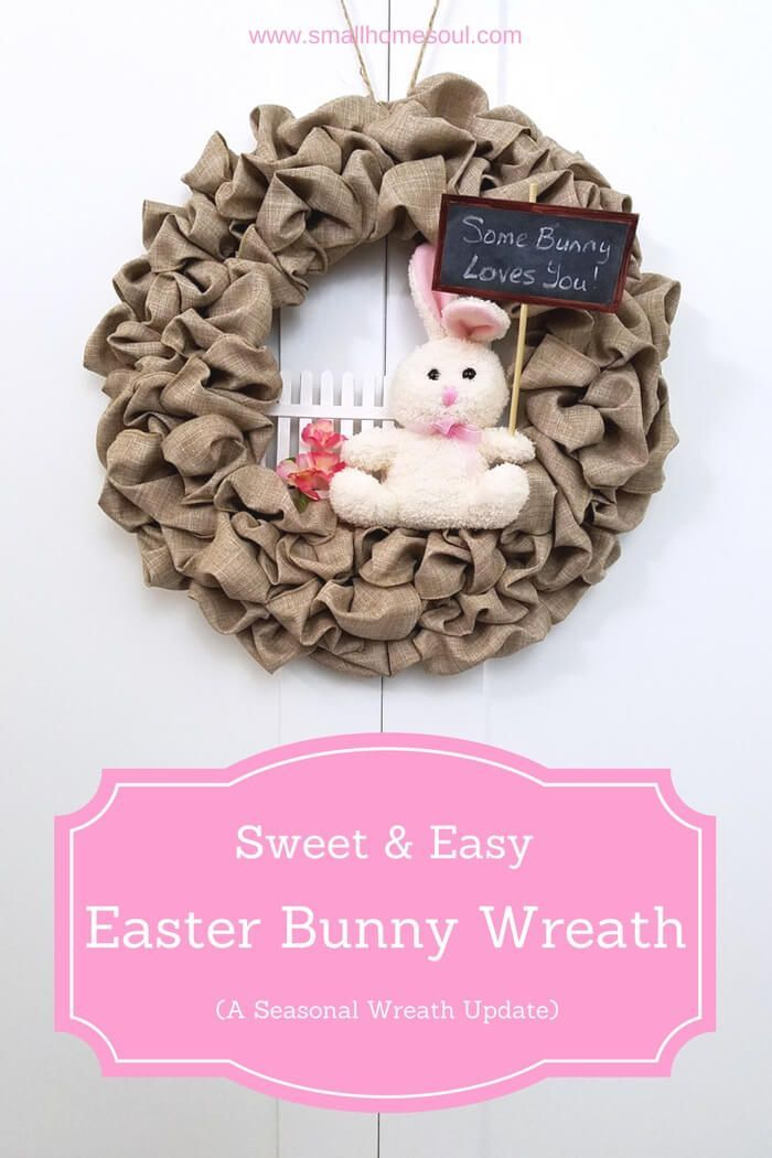 Update your seasonal wreath for Easter with some craft sticks and a Dollar Store bunny to create an adorable Easter Bunny Wreath everyone will love.  Perfect for indoor decor or to pretty up your porch.