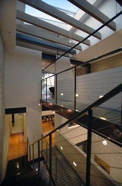 Steel grate as elevated walkway