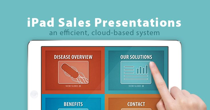 Learn to create interactive presentations on the iPad! A perfect sales solution for #pharma & #biotech #marketing