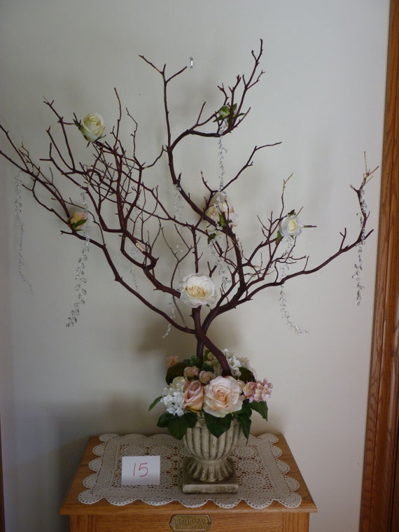 Images about manzanita tree centerpieces on