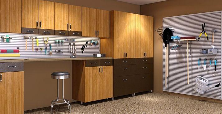 Garage Storage| Garage Storage Systems | Garage Organization: Garage Storageorgan, Garage Cabinets, Gardens Design Ideas, Garages, Workbenches Ideas, Garage Organizations, Closet Factories, Garage Ideas, Garage Workbench