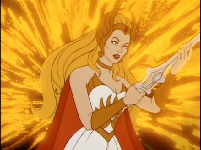 I was convinced I was She-ra when i was little. And, She-ra was the name of my first car :)