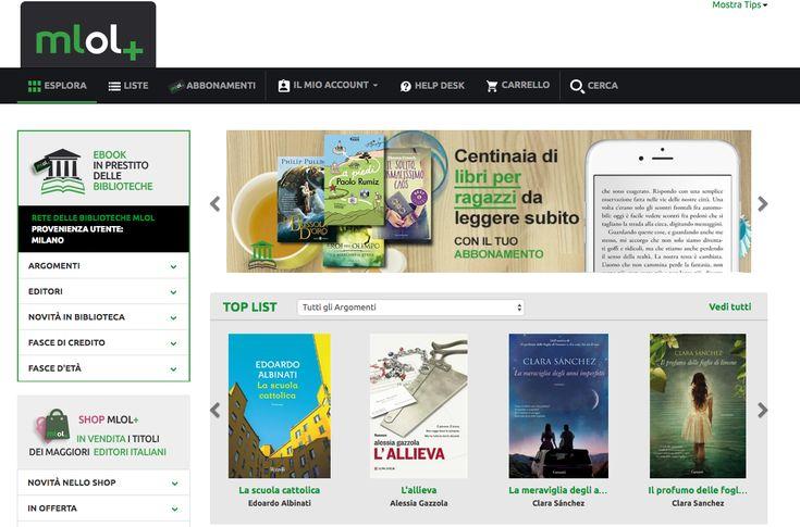 Come prendere in prestito ebook su MLOLplus. Il prestito digitale su abbonamento che sostiene le biblioteche italiane. Prova gratuita per 1 mese.