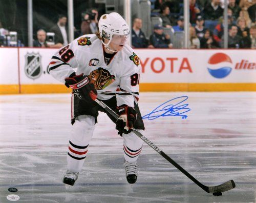 Patrick Kane Signed Chicago Blackhawks Photo - 16x20 - JSA Certified - Autographed NHL Photos by Sports Memorabilia. $109.99. Patrick Kane Signed Chicago Blackhawks Photo - 16x20 - JSA. Crystal clear autograph. Collectors have seen demand for items like this increase. All of our pieces are 100% authentic and come with a certificate of authenticity and a money-back guarantee. Patrick Kane's consistently high stats make him one of the best in the game. This piece com...